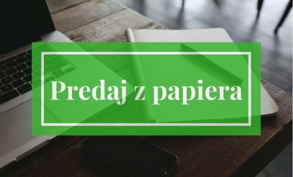 Predaj z papiera